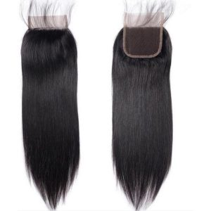 Brazilian human hair lace closure straight