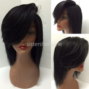 Sistershairstyle Virgin Human Hair Pre Plucked Full Lace Wigs and Lace Front Wigs (SHS0162)