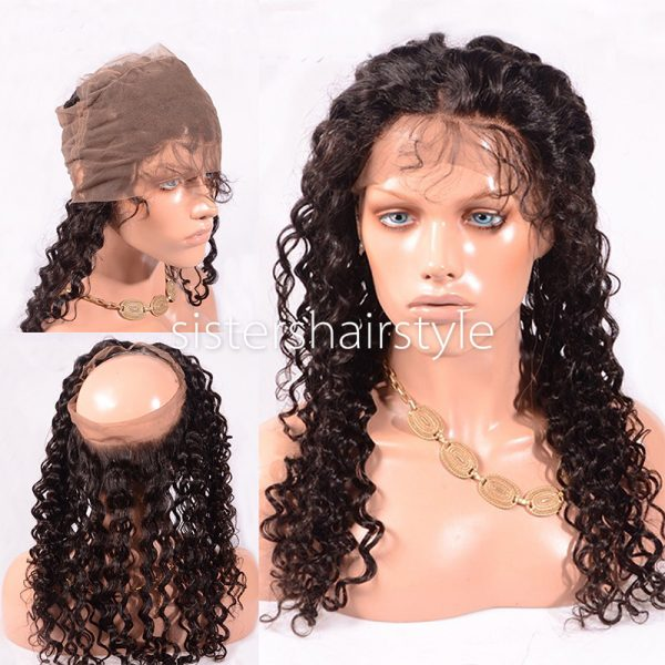 360 lace frontal tight curl
