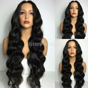 Sistershairstyle Virgin Human Hair Pre Plucked Full Lace Wigs and Lace Front Wigs for Black Women(SHS0168)