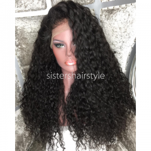 Sistershairstyle Virgin Human Hair Pre Plucked Full Lace Wigs and Lace Front Wigs (SHS0130)