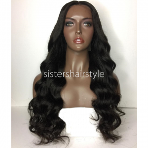 Sistershairstyle Virgin Human Hair Pre Plucked Full Lace Wigs and Lace Front Wigs (SHS0122)