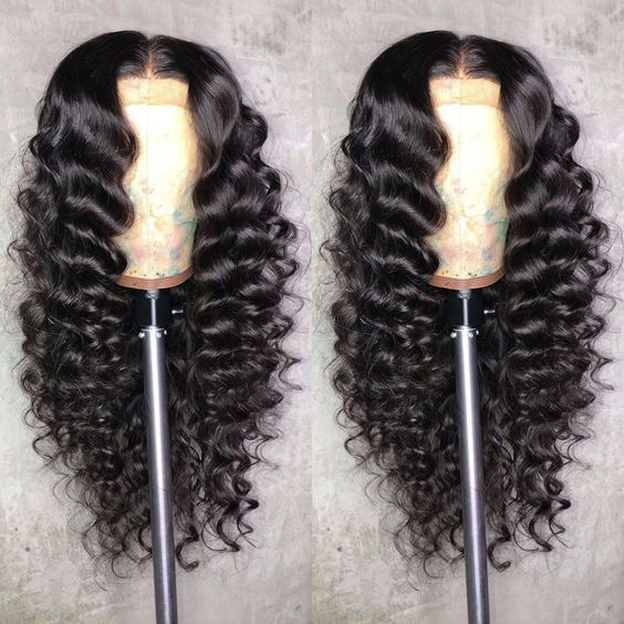Sistershairstyle Wave Human Hair Wigs Gluesless Lace Wigs with Baby Hair Pre Plucked Hairline