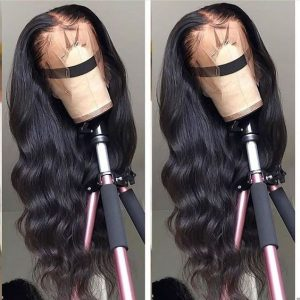 Sistershairstyle 13x6 Virgin Human Hair Big Body Wave Hair Pre Plucked Lace Wigs For Black Women(SHS0185)