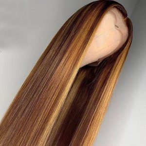 Sisters Hair Ombre Highlight Wig Brown Honey Blonde Colored Straight Hairstyles for Black Women(SHS0237)