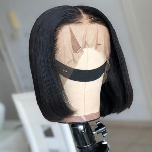 Sisters Hair 13x4 Short Lace Front Human Hair Wigs Straight Pre Plucked Cut from 10in(SHS0323)